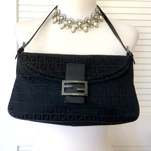 FENDI Double-Flap Zucca Bag EUC!